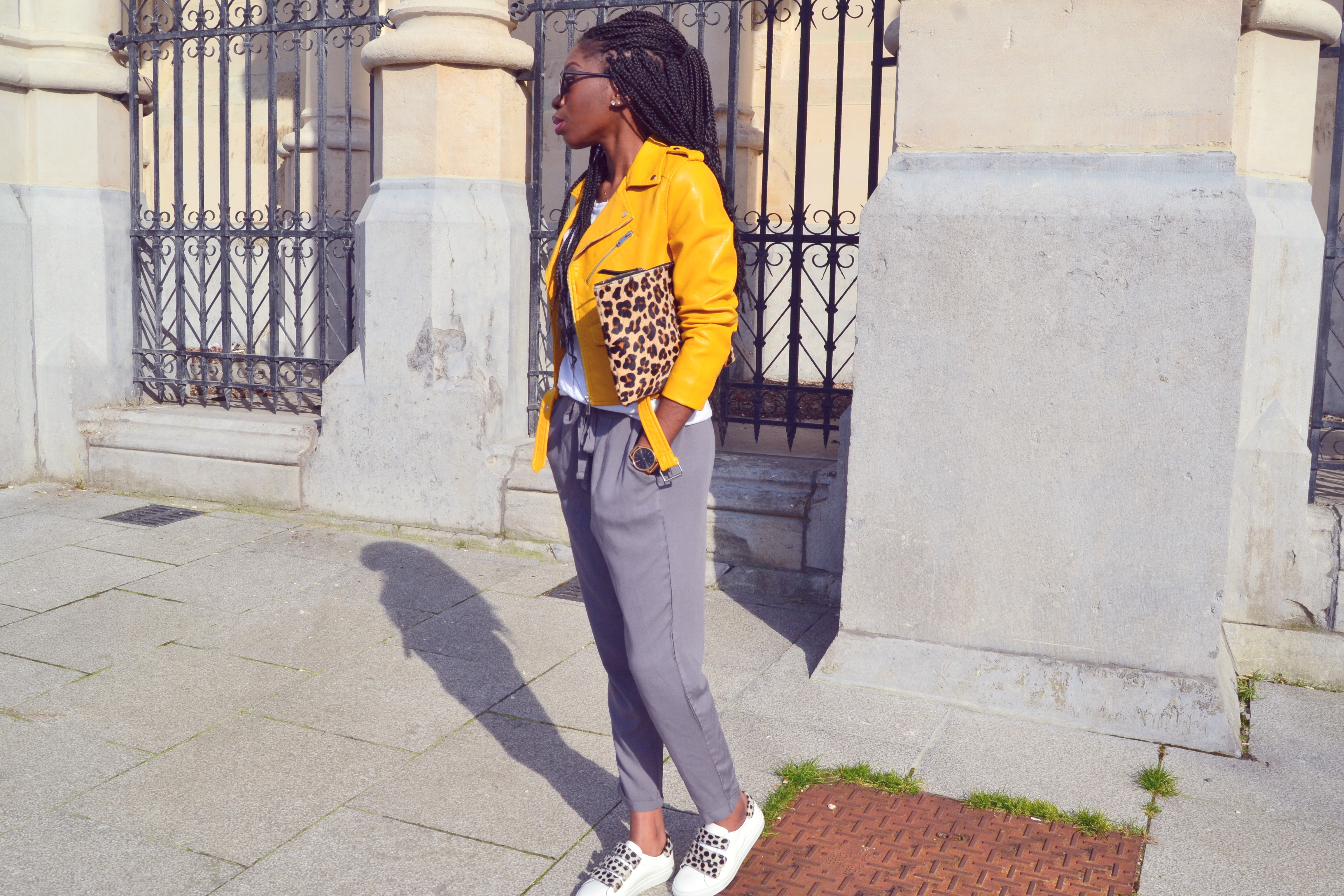 ESTHER KANTU [Yellow perfecto] N°1 Blog mode belgian blogger